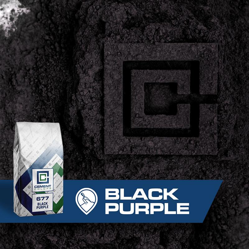 Black/Purple - Raw Pigment for Concrete by Cement Colors