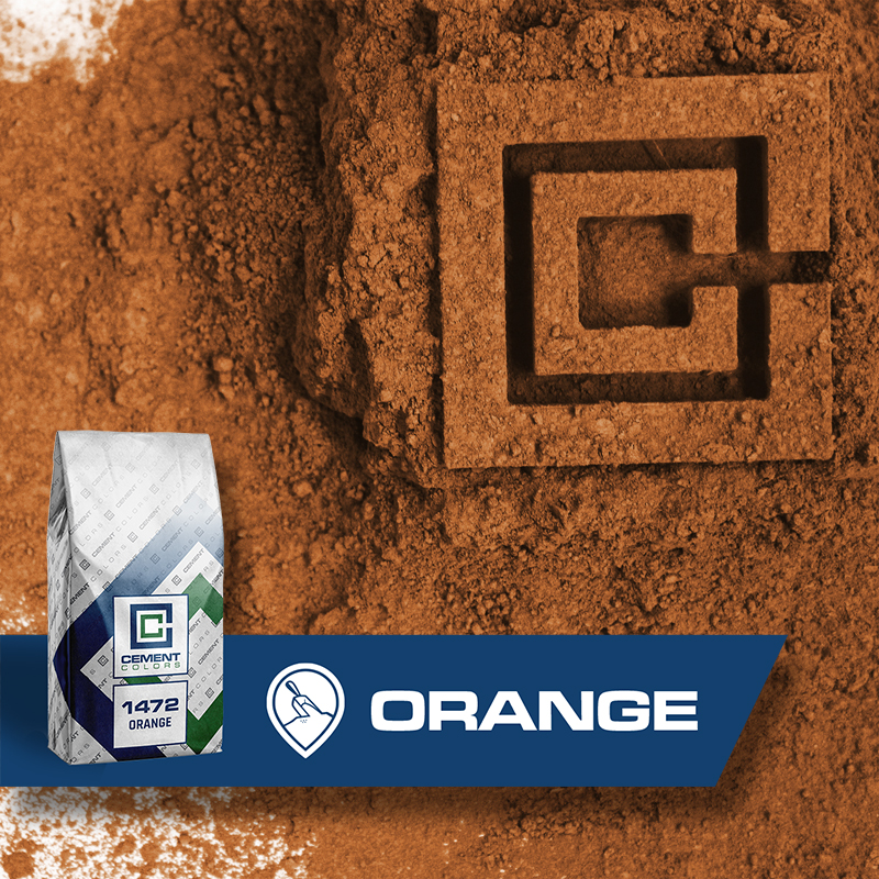 Orange - Raw Pigment for Concrete by Cement Colors