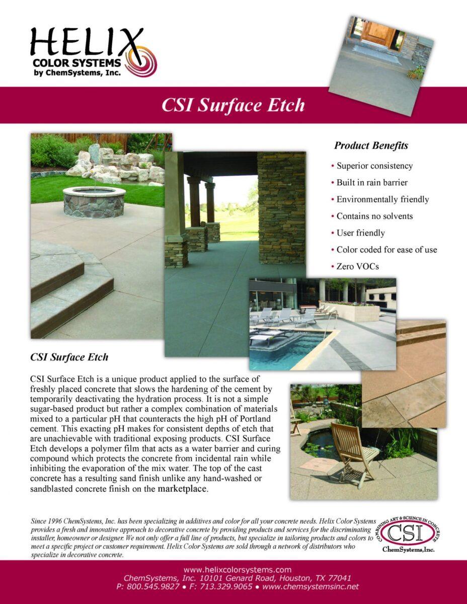 Chem Systems SurfaceEtch Flyer